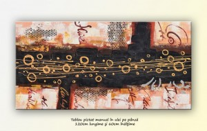 poza Tablou living, office, hol - Autoband - pictura abstracta (3) - ulei pe panza 120x60cm