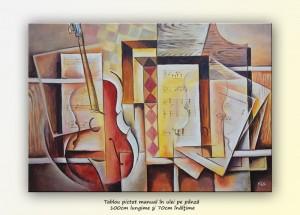 poza Proiect de simfonie - pictura cubista 100x70cm