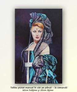 poza Pictura complexa - Florina Cercel, Lucrezia - Borgia 80x50cm