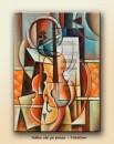Foto Univers muzical - tablou cubism sintetic 70x50cm