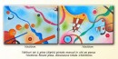 Foto Tablou diptic ( 2 piese ) - Imaginatie (2) - ulei pe panza 140x50cm
