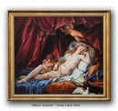 Foto Venus dormind vegheata de Cupidon - tablou reproducere Jean-Jacques Lagrenée