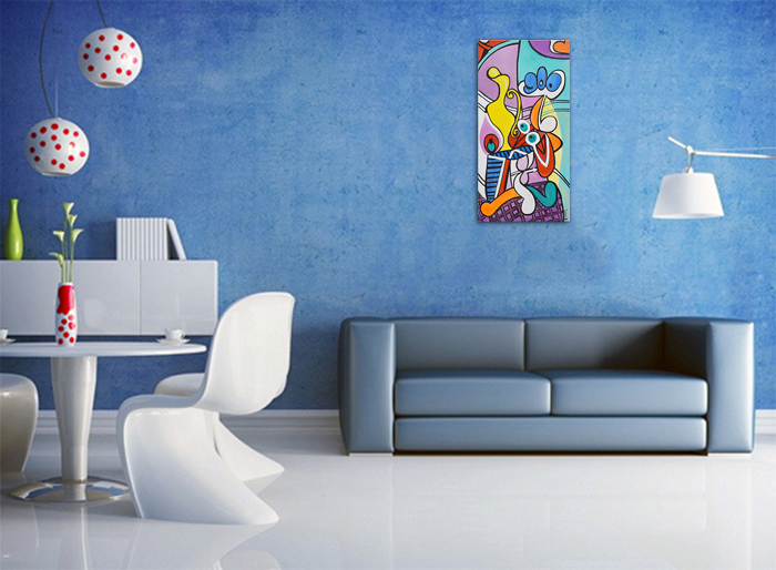 Nude and still life -  ulei pe panza 120x60cm, reproducerePablo Picasso. Poza 100400
