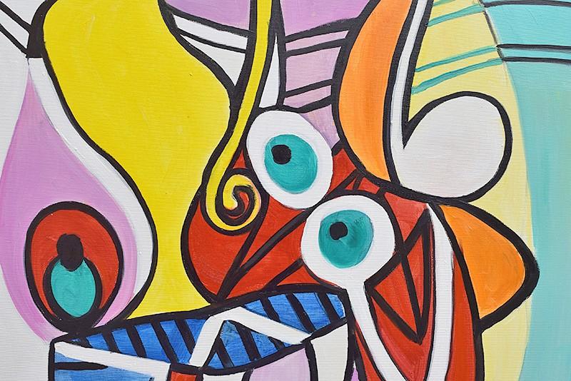 Nude and still life -  ulei pe panza 120x60cm, reproducerePablo Picasso. Poza 100401