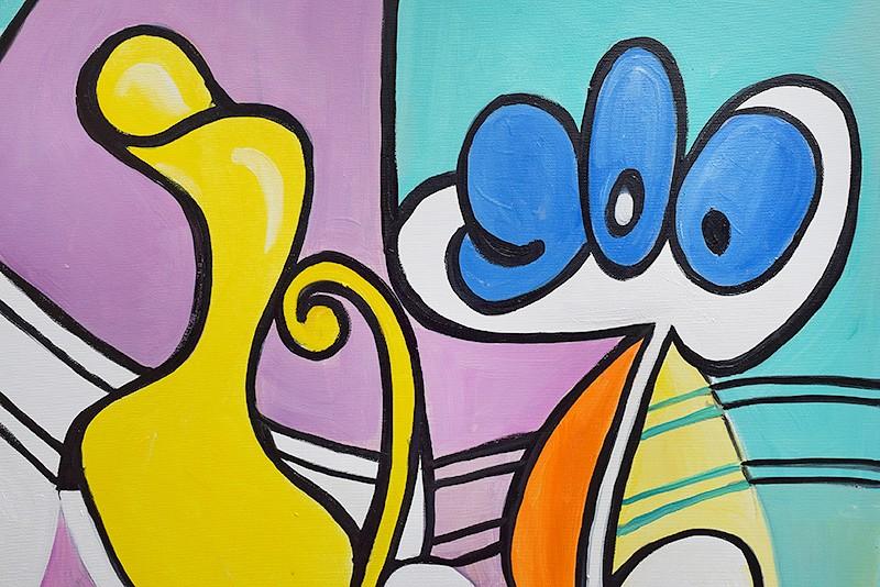 Nude and still life -  ulei pe panza 120x60cm, reproducerePablo Picasso. Poza 100403
