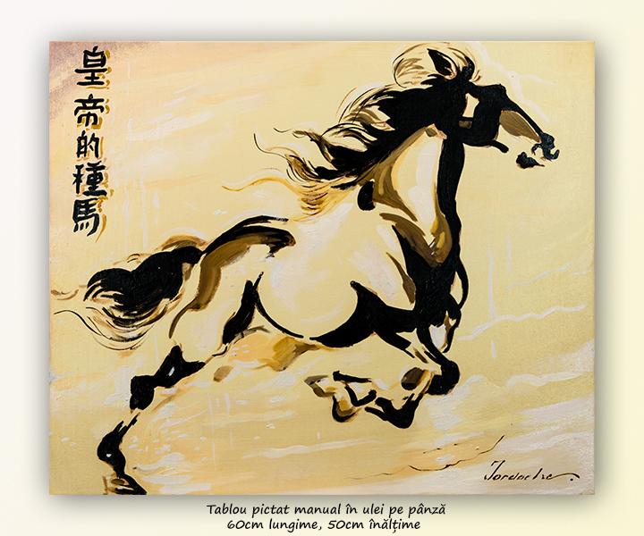 Asian horse (3) - 60x50cm pictura ulei pe panza