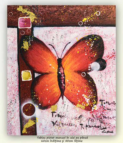 Fluture (1) - 60x50cm