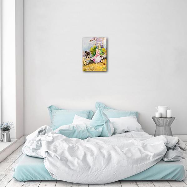 Caca Poza acum tabloul expus pe perete (1)
