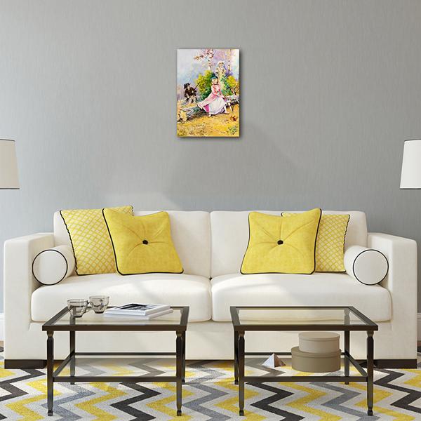 Caca Poza acum tabloul expus pe perete (2)