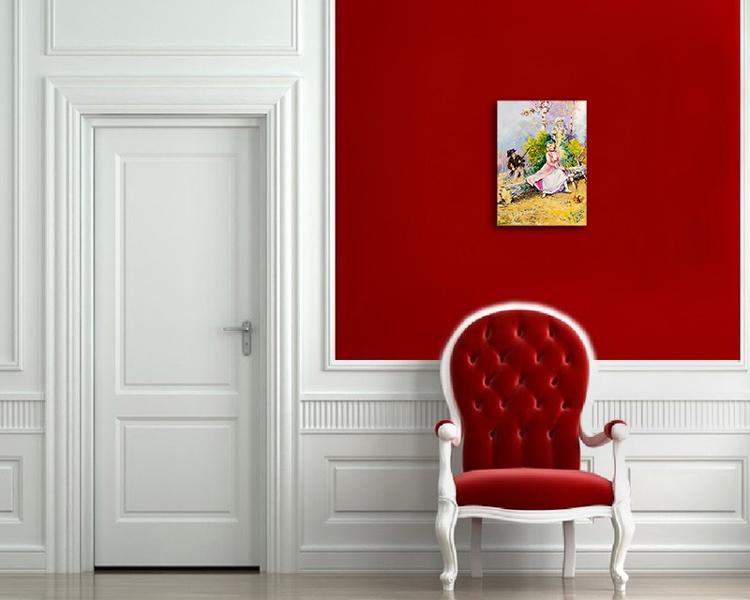 Caca Poza acum tabloul expus pe perete (3)