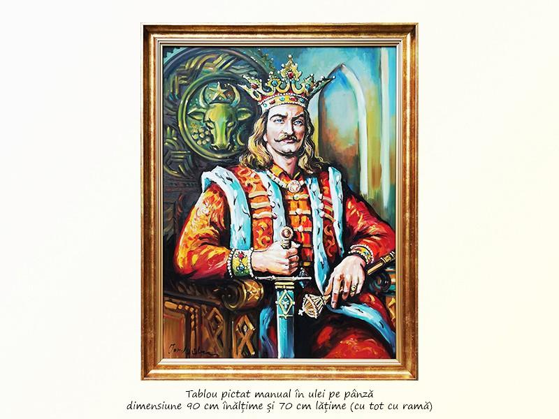 Stefan cel Mare - pictura ulei pe panza 80x60cm