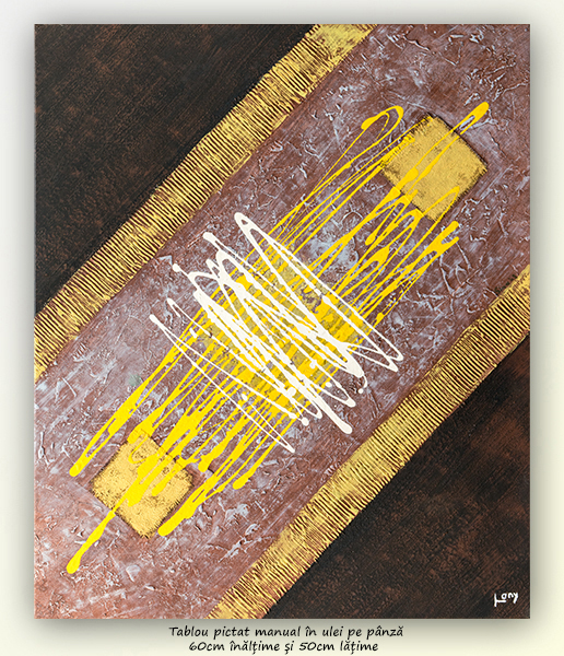 Compozitie abstracta (9) - 60x50cm ulei pe panza, Superb@