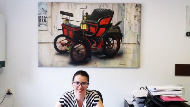 Tablou pictat la comanda speciala 150x100cm - office service auto