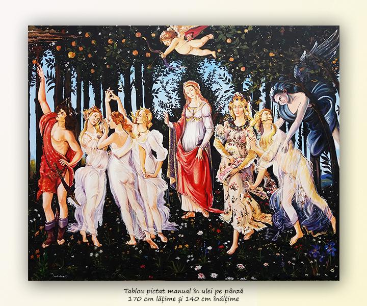 La primavera - ulei pe panza 170x140cm repro Sandro Botticelli - MAGISTRAL