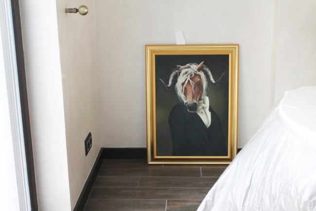 Tablou pictat la comanda speciala - locatie finala