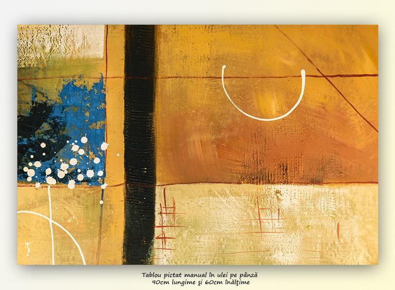 Fantezie abstracta (1) - 90x60cm ulei pe panza, modern@
