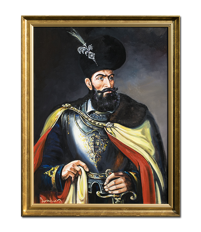 Mihai Viteazul - pictura ulei pe panza 80x60cm, Magistral!