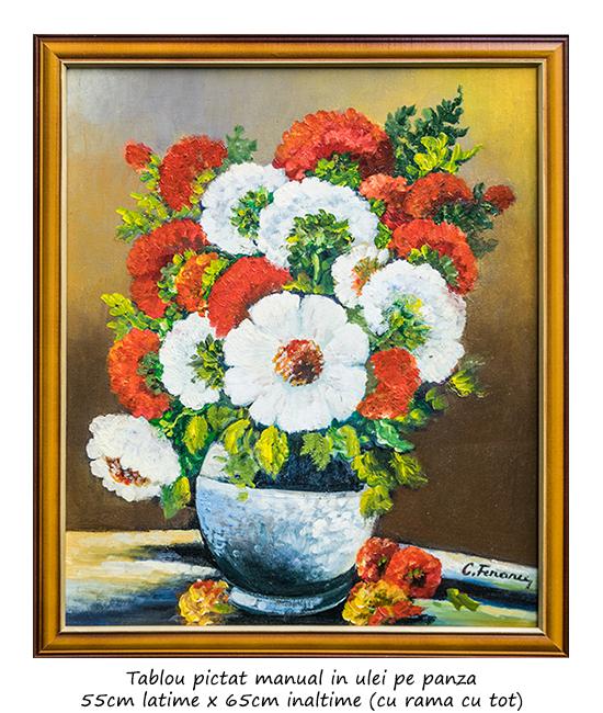 Frumoasele mele (1) - 65x55cm cu rama, pictura ulei pe panza, Magistral!