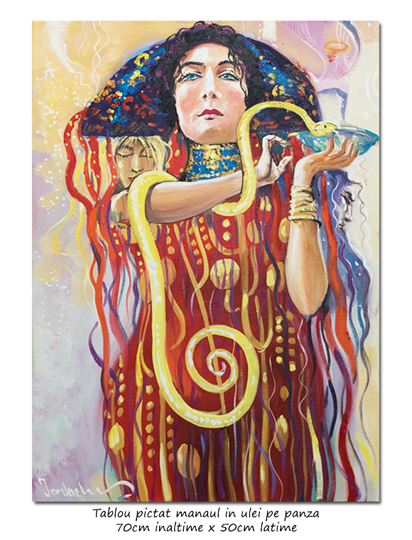 Medicine & Hygeia - 70x50cm ulei pe panza, repro Gustav Klimt