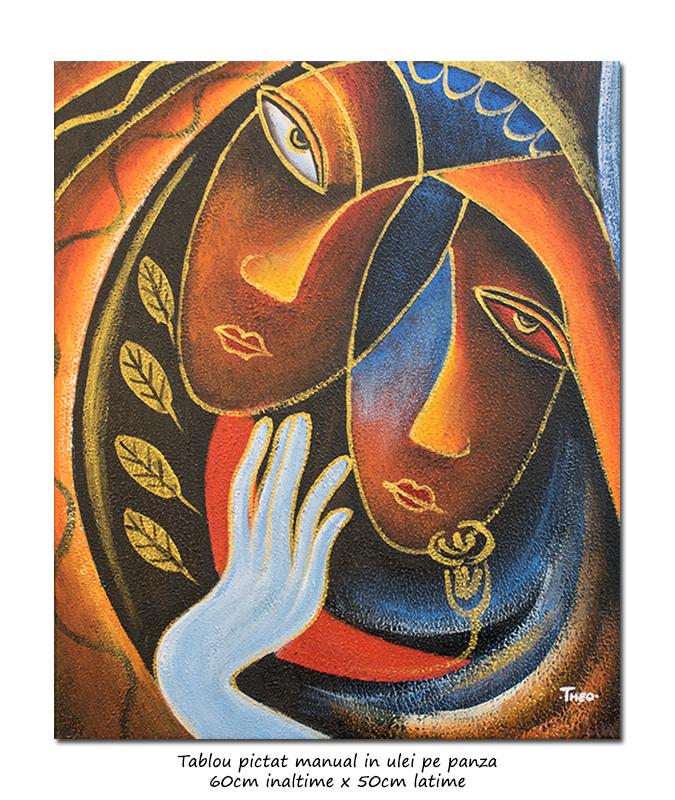 In love - 60x50cm tablou modern ulei pe panza, Superb!