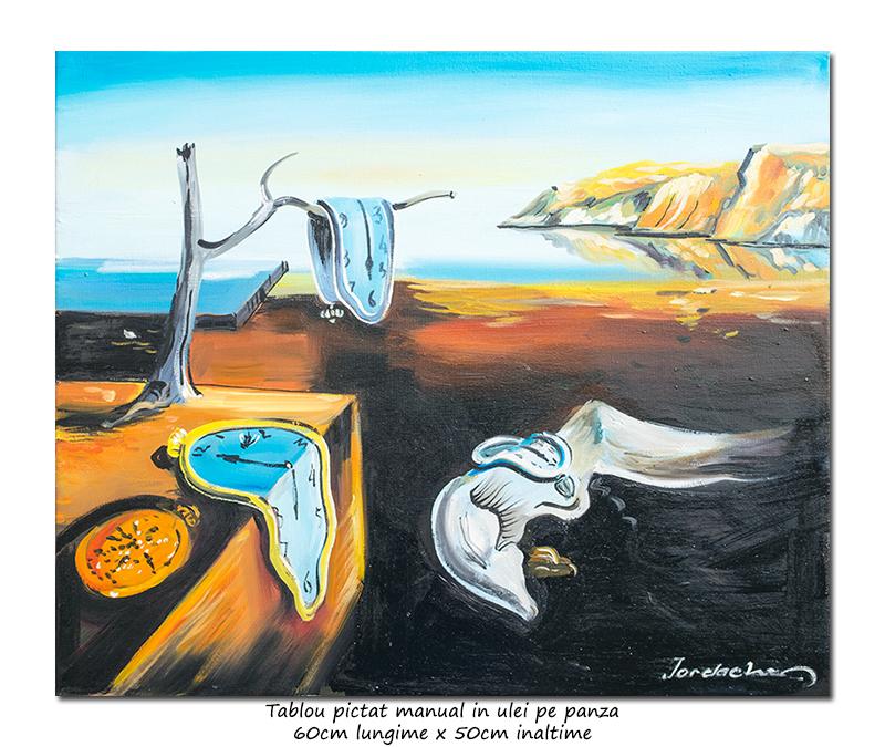 The Persistence of Memory - 60x50cm ulei pe panza, repro Salvador Dali, Magistral!