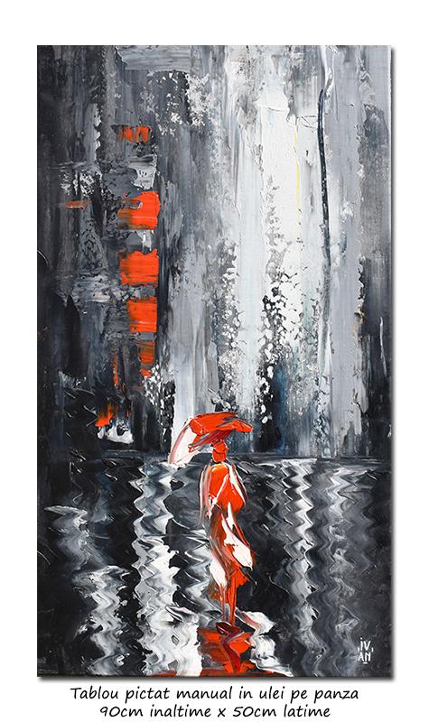 Spre o alta dimenssiune - 90x50cm tablou modern in cutit pe panza, Spectaculos!