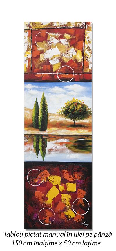 Peisaj modern (2) - tablou ulei pe panza 150x50cm, Spectaculos!