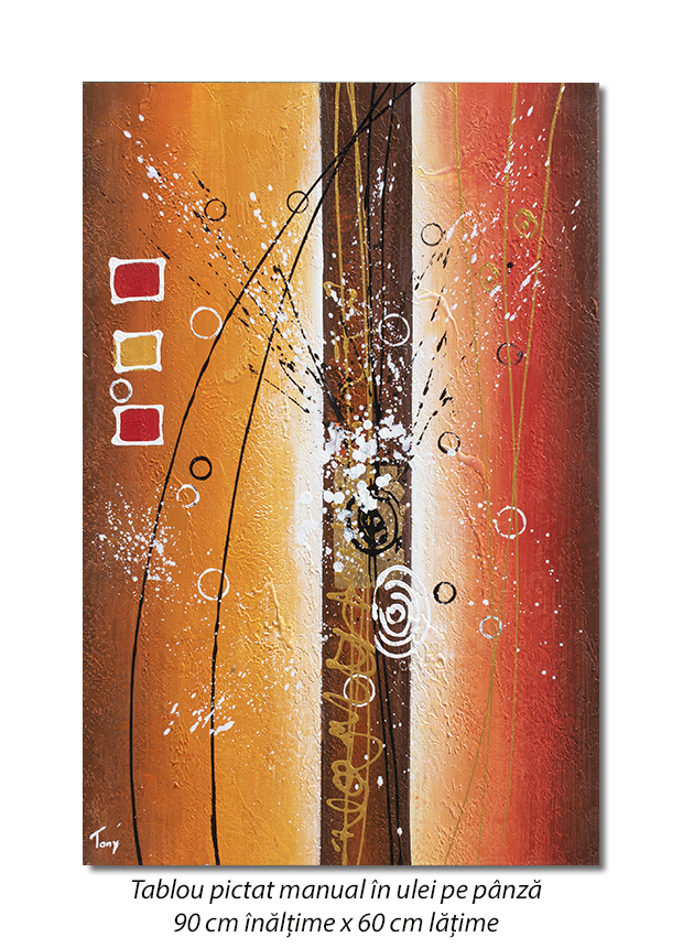 Fantezie abstracta (1) - 90x60cm ulei pe panza, Magnific