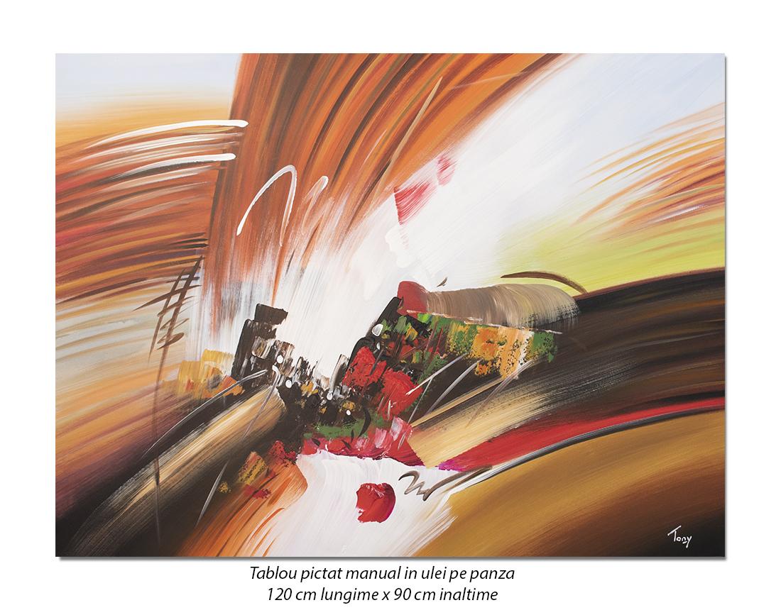 Tablou GIGANT - Fantezie abstracta (3) - 120x90cm ulei pe panza, Spectaculos!