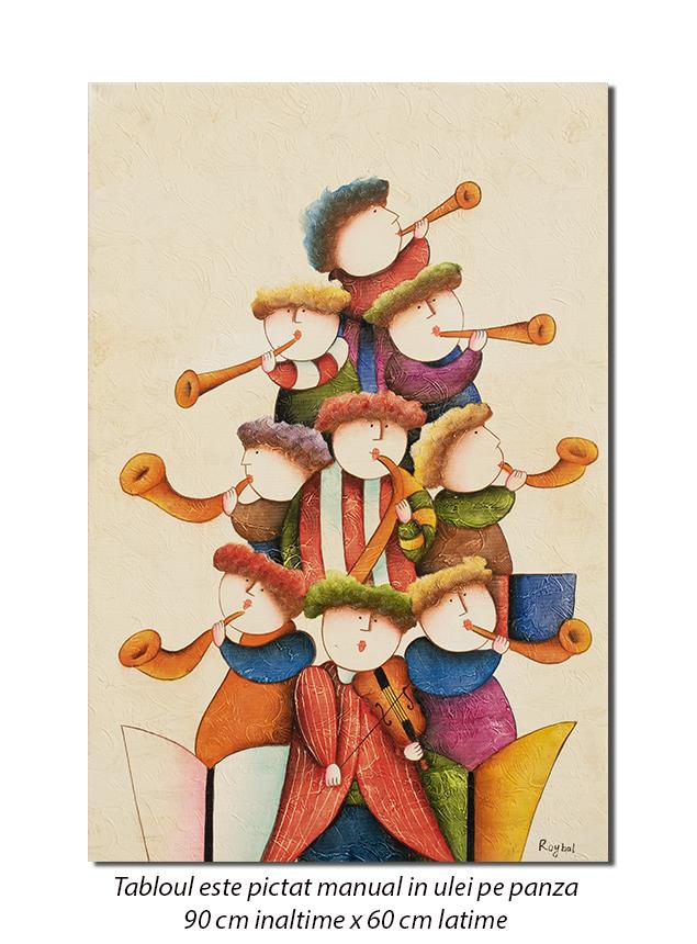Orchestra prichindeilor (3) - 90x60cm ulei pe panza, Spectaculos!