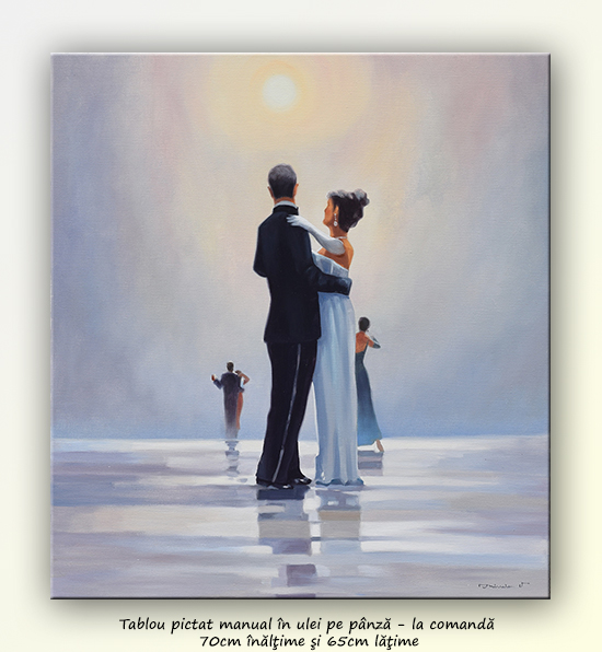 Dance me to the End of Love - tablou pictat manual ulei pe panza - repro Jack Vettriano. Poza 68749