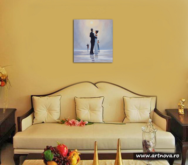 Dance me to the End of Love - tablou pictat manual ulei pe panza - repro Jack Vettriano. Poza 68753
