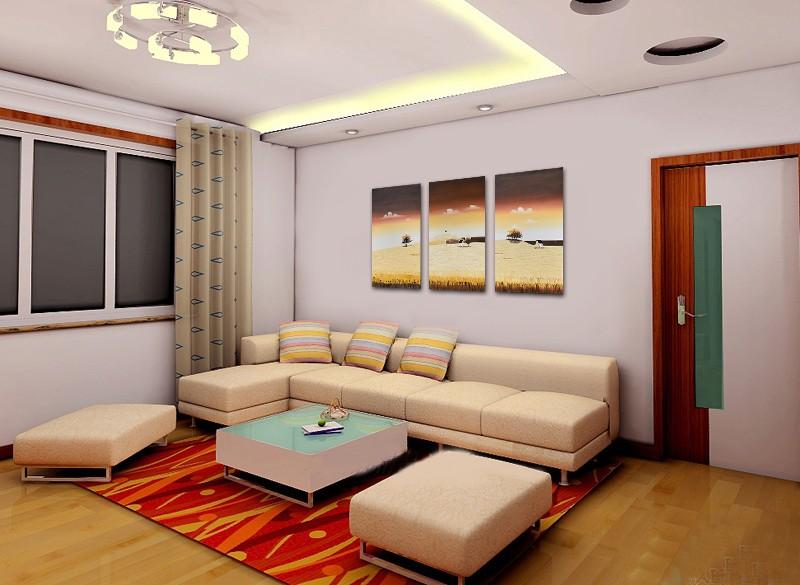 Tablouri living, dormitor - Sezon galben - tablou triptic 180x90cm. Poza 69118