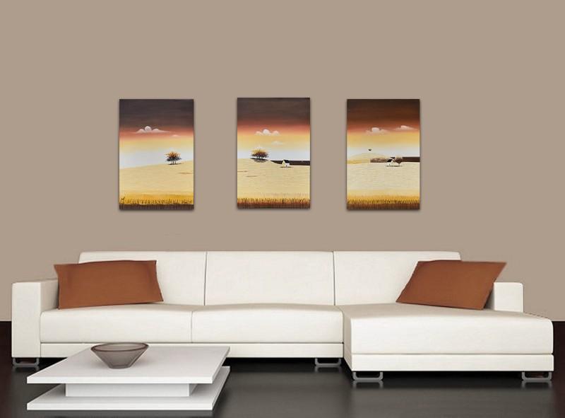 Tablouri living, dormitor - Sezon galben - tablou triptic 180x90cm. Poza 69119
