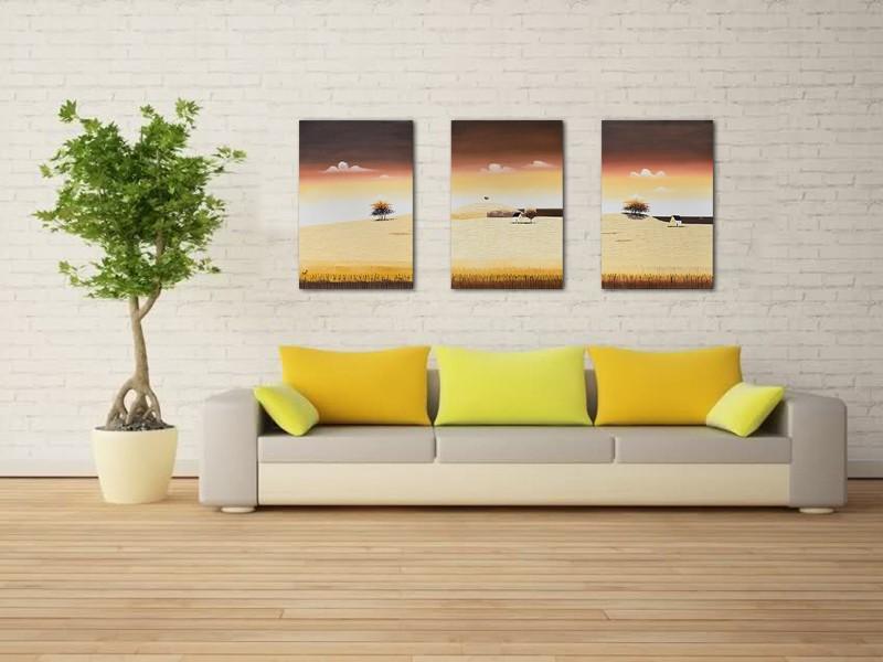 Tablouri living, dormitor - Sezon galben - tablou triptic 180x90cm. Poza 69120