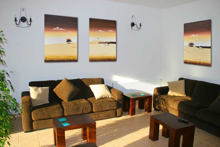 Tablouri living, dormitor - Sezon galben - tablou triptic 180x90cm. Poza 69121