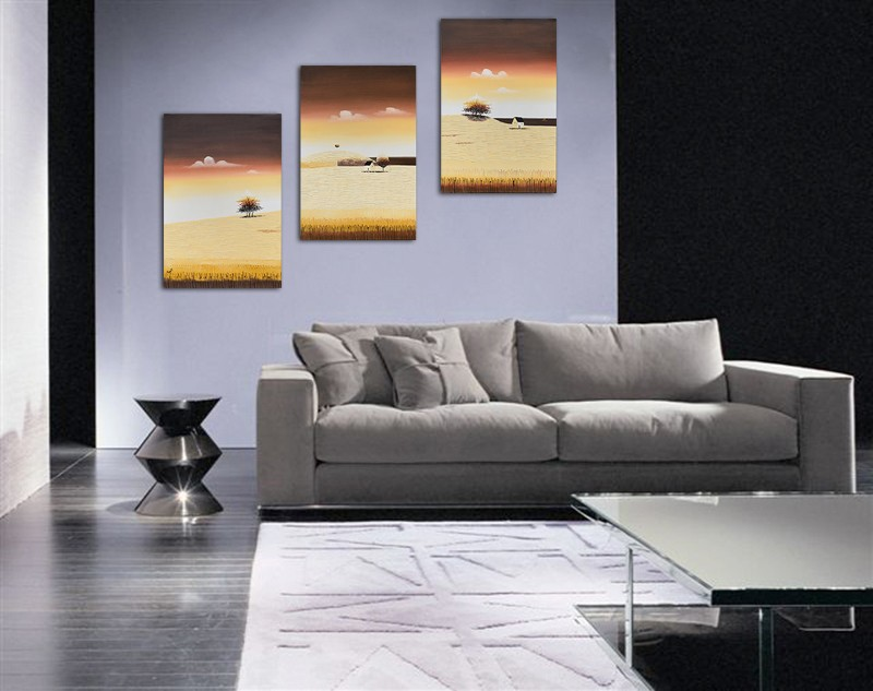 Tablouri living, dormitor - Sezon galben - tablou triptic 180x90cm. Poza 69123