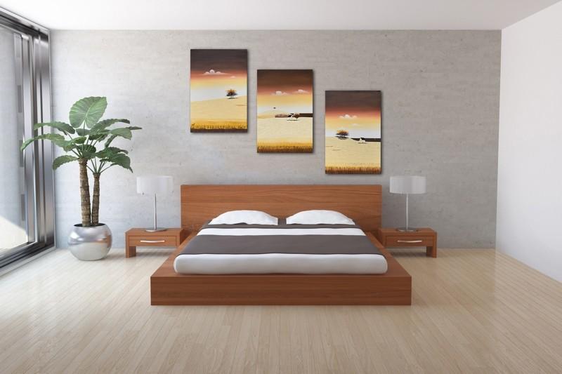 Tablouri living, dormitor - Sezon galben - tablou triptic 180x90cm. Poza 69125