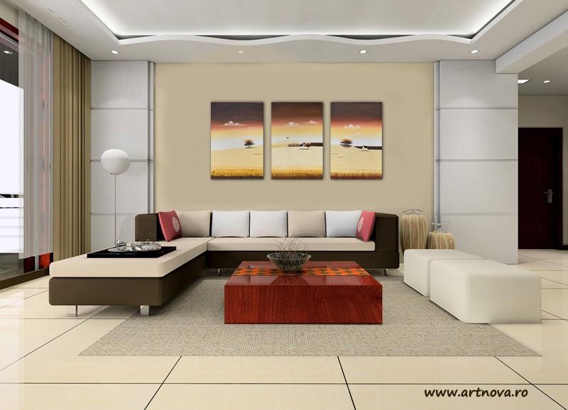 Tablouri living, dormitor - Sezon galben - tablou triptic 180x90cm. Poza 69126