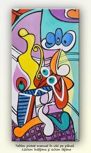 poza Nude and still life -  ulei pe panza 120x60cm, reproducere Pablo Picasso