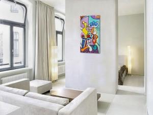 Poza Nude and still life -  ulei pe panza 120x60cm, reproducerePablo Picasso. Poza 100399