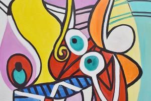 Poza Nude and still life -  ulei pe panza 120x60cm, reproducerePablo Picasso. Poza 100401