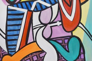 Poza Nude and still life -  ulei pe panza 120x60cm, reproducerePablo Picasso. Poza 100402