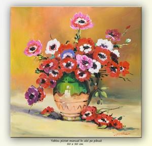 poza Anemone (3) - pictura ulei pe panza, 50x50cm, repro Stefan Luchian, Superba!