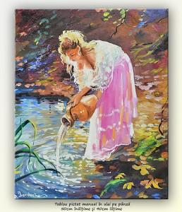 poza La pârâu (3) - pictura ulei pe panza 50x40cm, Superb@