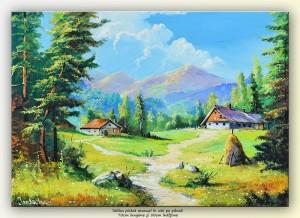 poza La ferma de la munte - tablou ulei pe panza 70x50cm, Superb!