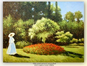 poza Femme au jardin, ulei pe panza 80x60cm - repro Claude Monet