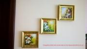 Galerie foto tablouri flori cu rama - expuse la client acasa