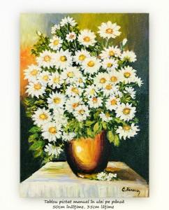 poza Margaretele mele (2) - pictura ulei pe panza 50x35cm, Superb@