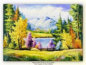 poza Măretie - tablou peisaj montan, ulei pe panza 70x50cm, Magistral!